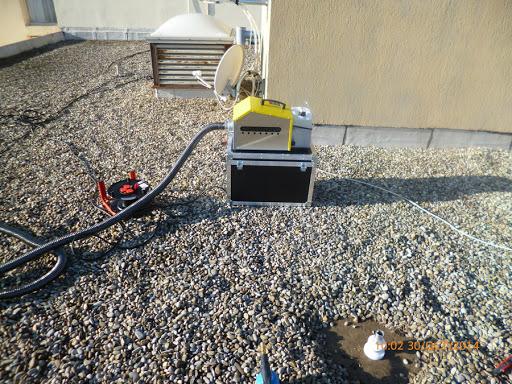 Comment recherche une fuite terrasse avec fumigène ?
